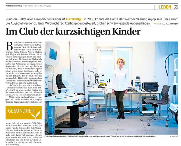 Die Presse Falkner-Radler Augenchirurgie
